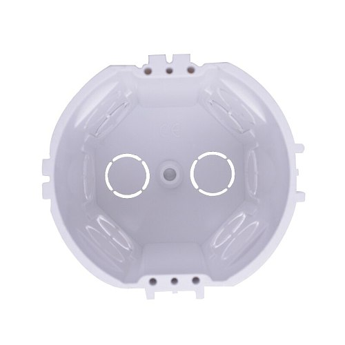 2018 New Arrival EU Standard, Wall Round Mounting Box, Internal Cassette, Wiring Box, White Back Box For EU Switches and Sockets