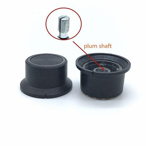 5pcs Plastic Switch Caps Transmittance 6mm 15/64'' Shaft Diameter Ring Light-emitting Potentiometer knob Plum Shaft D Shaft