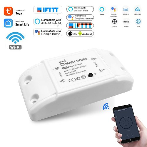 DIY Smart Home House Wifi Wireless Remote Switch Domotica LED Light Controller Module for Alexa Google Home Smartlife Tuya APP