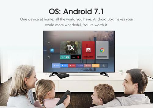 TX9S Smart 2.4GHz Android 7.1 TV Box Media Player 4K HD 750 MHz Amlogic 2G/8G HD network player eight-core S912 Android TV BOX
