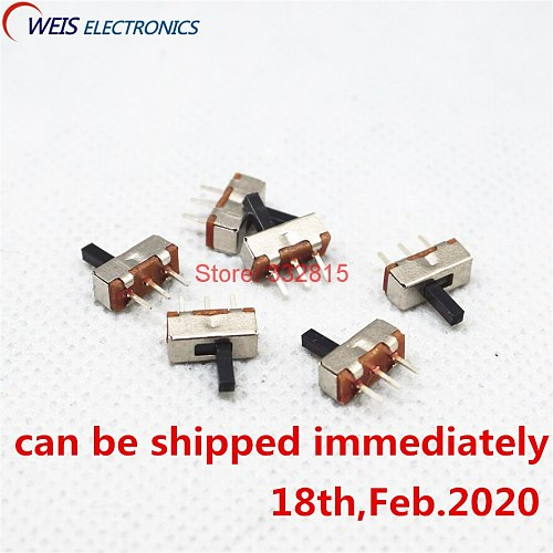 100PCS SS12D00 SS-12D00 4MM 3MM 5MM 1P2T toggle switch Interruptor on-off mini 1 Way 2 Band Slide Switch PCB Mount (in stock)