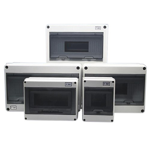 15 Way Plastic Electrical Distribution Box Waterproof MCB Box Enclosure Box Junction Box HT Series
