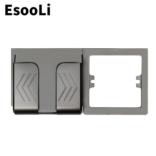 EsooLi Grey Wall Socket Phone Holder Smartphone Accessories Stand Support For Mobile Phone Apple Samsung Huawei Phone Holder