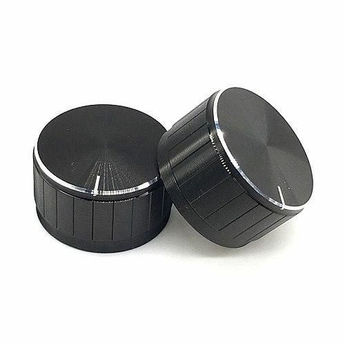 2pcs/lot Black Aluminum alloy Potentiometer/Encoder Knobs Switch Caps 30x17MM Half Shaft Plum Shaft