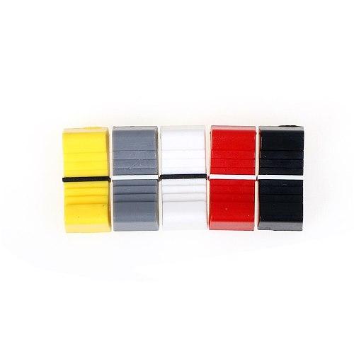 10pcs/lot Touch Sensitive Slider Ribbed Mixer Desk Switch Knob Cap 8mm Fader Knob Cap Plastic