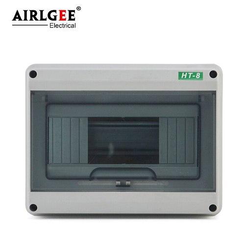 8 way IP65 waterproof HT-8 way plastic distribution box circuit breaker surface installation ABS material engineering box