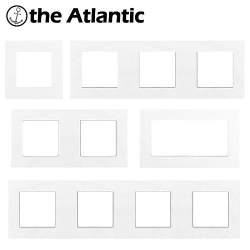 S Series- White Plastic Frame Customize DIY Socket Power Outlet Free Combination Single Double Triple Quadruple Panel