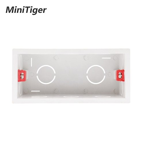 Minitiger Super Quality 144mm*67.5mm Internal Mounting Box Back Cassette for 154mm*72mm Wall Light Touch Switch and USB Socket