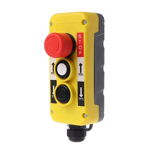 Waterproof Industrial Push Button Switch Emergency Stop for Electric Crane Hoist Pendant Control Station