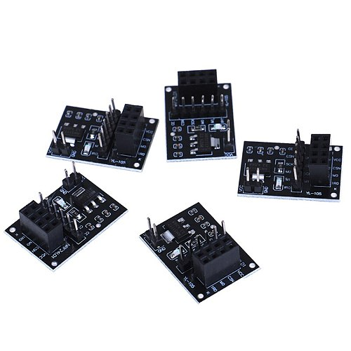 5Pcs NRF24L01 Wireless Adapter Module New Socket Adapter Plate Board For 8Pin