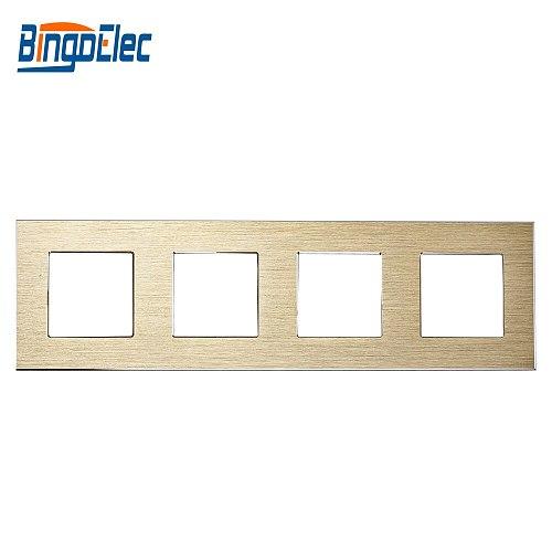 Bingoelec EU Standard Hot Sale Silver Gold Black 4 Aluminum Frame With Iron Plate 86*299mm