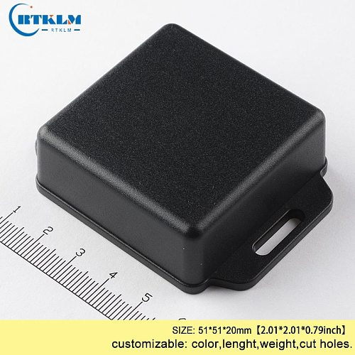 Plasitc enclosure 51*51*20mm  injected junction box IP54 ABS wall mounting project box for electronic device box black diy box