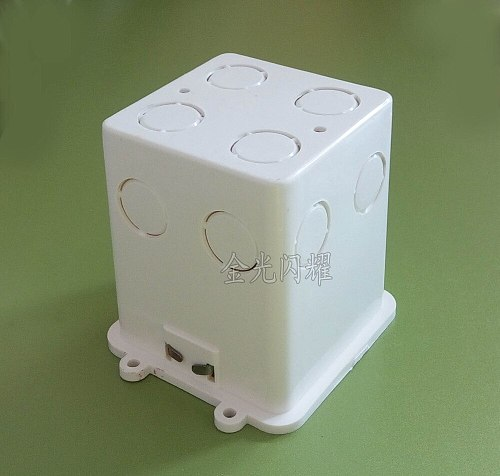 White Plastic Materials,  UK Standard Internal Mount Box for square back shape wall switch socket use.90mm height
