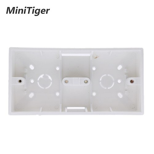 EsooLi External Mount Box 172mm*86mm*33mm for 86 Type Double Touch Switches or Sockets Apply For Any Position of Wall Surface