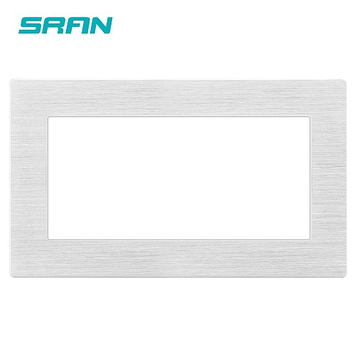 SRAN Blank panel with Installing iron plate 146mm*86mm Silver aluminum alloy switch socket panel