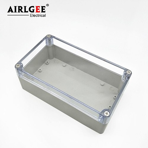ABS Plastic Dustproof IP65 Joint Outdoor Transparent Cover Waterproof Electrical Junction Box 200x120x56mm