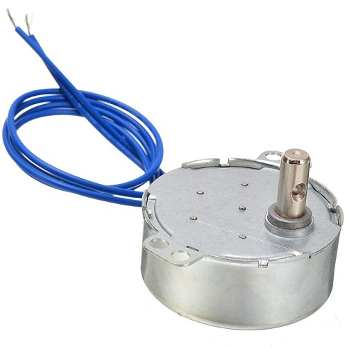 1pc Turntable Synchronous Motor CCW/CW Direction 4W 50/60Hz 2.5-3RPM AC 100-127V Electric Motors For Fan Microwave Oven Mayitr