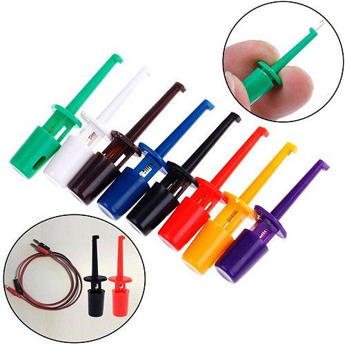 10/12PCS Multimeter Lead Wire Kit Test Hook Clip 5color Each2 Test Probe SMT / SMD IC D20 Cable Welding Circular Test Clip