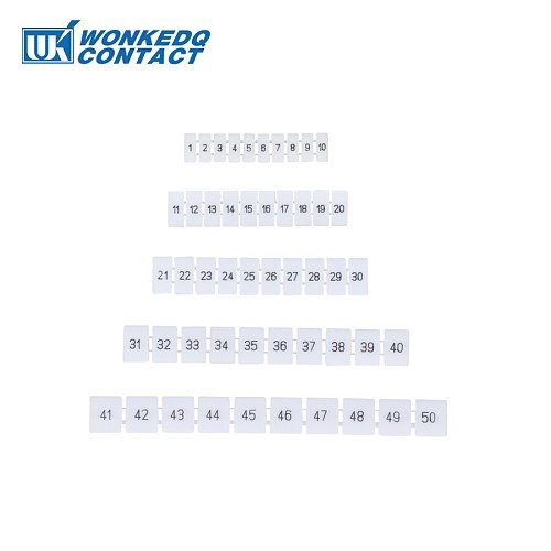 ZB8 Zack Marker Strips With Standard Numbering With Blank for UK and ST and PT DIN Rail Terminal Blocks  10Pcs