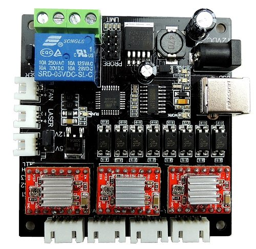GRBL laser control board, USB 3 Axis Driver Board, For GRBL engraving machine CNC Mini machine can update to 1.1 version