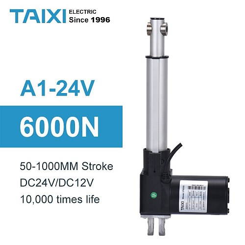 6000n electric linear actuator 200mm 250mm stroke dc 24v motor 50mm 100mm telescopic actuator 150mm 600kg load Lifting column