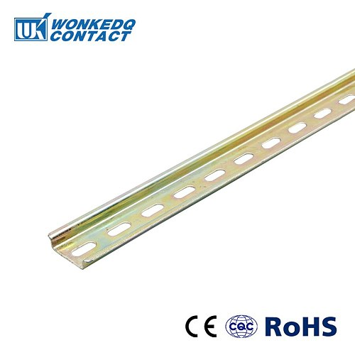 Thickness 1mm NS35-S Steel DIN Rail For Mounting Terminal Blocks  Steel Material 35mm 0.5 Meter Universal Type