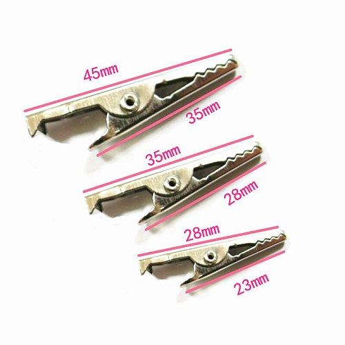 10PCS New 28MM Metal Alligator Clip For G98 Crocodile Electrical Clamp for Testing Probe Meter Black and Red with Plastic Boot