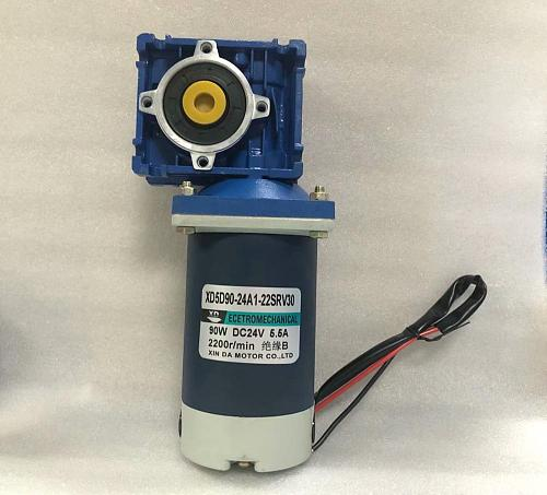 12V 24V DC RV30 worm gear motor with self-locking function 90W speed adjustable can CW and CCW