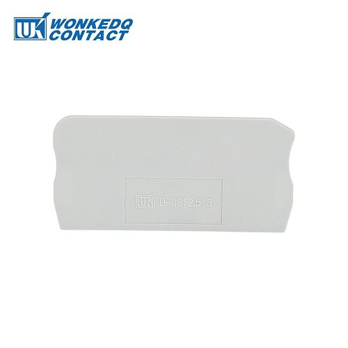 D-ST2.5-TWIN  End Cover  ST and PT Series Din Rail Terminal Blocks End Cover plate  61x29.5x2.2 mm