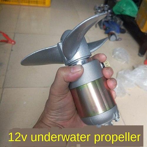 DIY Electric Boat Nest Lath Outboard Motor Propeller Paddle Machine Rubber Boat 12V Underwater Motor Propeller