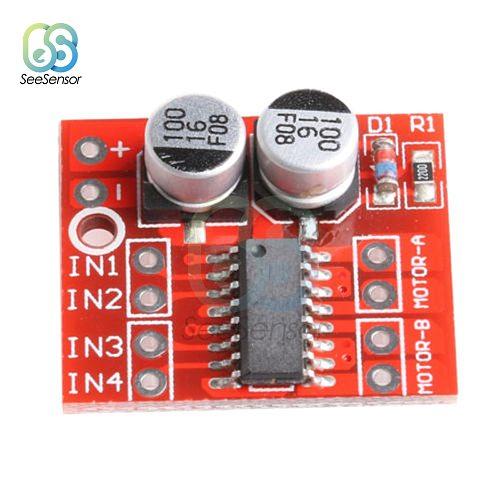 10Pcs 1.5A 2-way MX1508 DC Motor Driver Module PWM Speed Dual H-Bridge Stepper Motor L298N