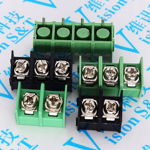 10pcs x KF7.62mm-2/3/4Pin 300V 20A 7.62mm Pitch Straight Needle Connector Pcb Screw Terminal Block Connector