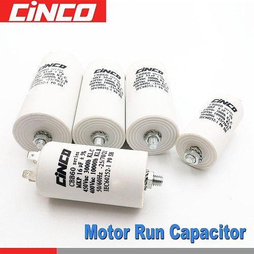 Motor Run Capacitors 40 35 30 25 20 18 16 15 14 12 10 8 7 6 5 4.5 4 3.5 3 2.5 2 1.5 1 uf 400 450 V CBB60 450VAC mf mfd Volt