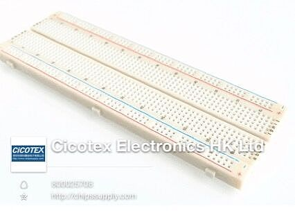 MB-102 New Breadboard 830 Point Solderless PCB Bread Board MB102 Test Develop DIY