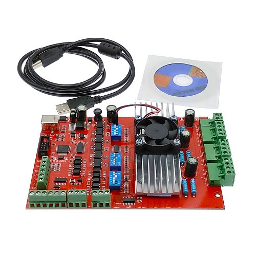 Breakout board with fan MACH3 CNC USB 100Khz 3 axis interface driver motion controller driver board