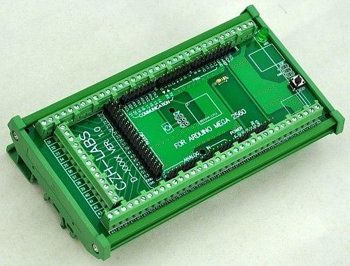 DIN Rail Mount Screw Terminal Block Adapter Module, For MEGA-2560 R3.