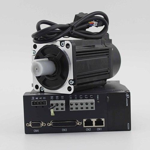 Lichuan 80st-M02430 750w servo motor flange 80 2.39Nm with drive servo motor ac 220v servo kit 0.75kw for CNC milling machine