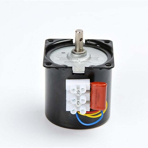 110VAC /25w/2.5 rpm-100rpm Low Noise Gearbox Electric Motor 50HZ 60HZ High Torque Low Speed AC synchronous motor 60KTYZ