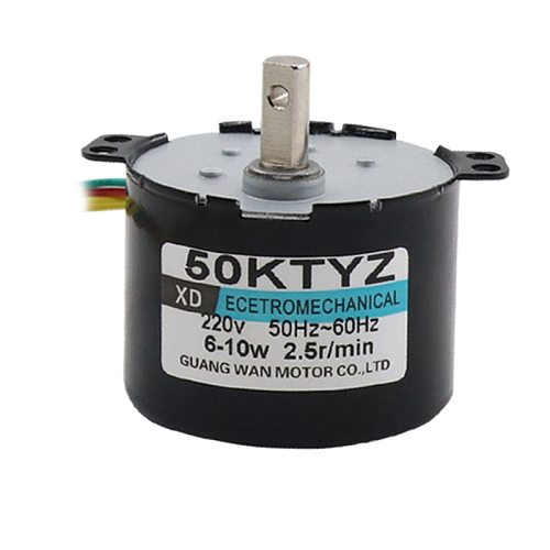 50KTYZ Permanent Magnet Synchronous Motor 220V AC Motor Positive And Negative Gear Reduction Micro Motor Slow Speed Small Motor