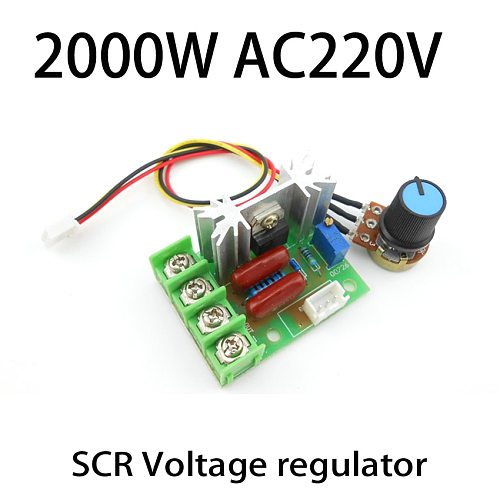 2000W AC 220V SCR voltage regulation External knob PWM motor speed controller High precision
