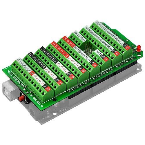 Electronics-Salon Screw Terminal Block Breakout Module, for MEGA-2560 R3.