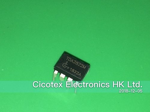 10pcs/lot TDA2822M DIP8 IC AMP AUDIO DUAL LOW VOLT 8MDIP 3-6V/9V/12V