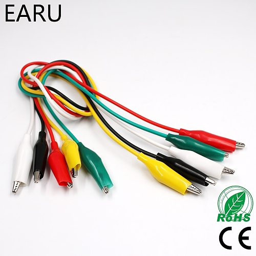Brand New 10pcs Alligator Clips Electrical DIY Test Leads Alligator Double-ended Crocodile Clips Roach Clip Jumper Wire Battery