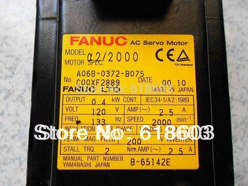 FANUC Alpha 2/2000 AC servo motor A06B-0372-B075