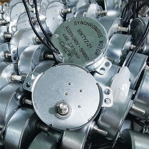 1 pcs 220VAC Or 110VAC Synchronous motor 50KTYZ-21 AC220V-24W 50/60Hz 2.5/3r/min CW/CCW 49mm*17mm incubator Turn the egg