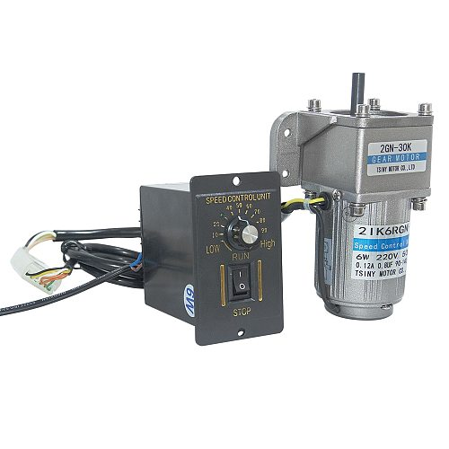 AC Gear Motor 110V/220V 6W 7.5/15/23/34/54/75/108/150/180/270/450Rpm Gift Bracket & Speed Controller AC Motor With 2GN Gearbox