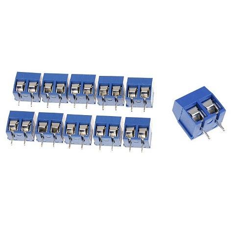 10/20pcs 2 Pin Plug-in Screw Terminal Block Connector 5.08mm Pitch Connectors Terminals Blocks