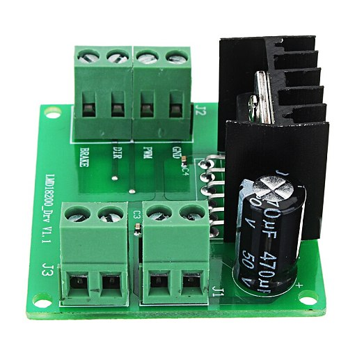 1pc New 3A 75W DC PWM Speed Adjustable Motor Driver Module LMD18200T For-arduino