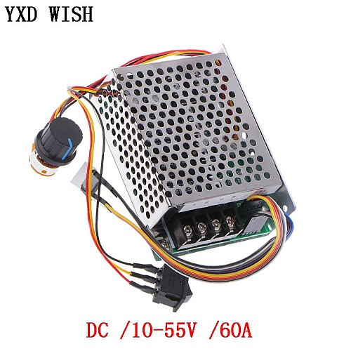 PWM Motor Speed Controller DC 10-55V 60A Speed Controller CW CCW Reversible Switch Digital Display 12 V Motor Speed Controller