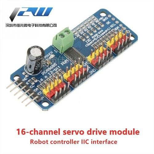 ROBOT TENSTAR 16 channel 12 bit PWM / Servo Driver-I2C interface module PCA9685 Raspberry pi shield module servo shield